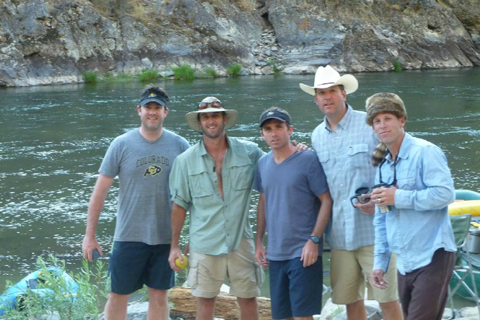 Eric Boucher and friends,  Middle Fork, Idaho