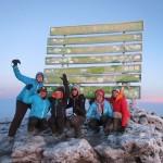 Ambreen and climbing crew  Kilimanjaro, 2012