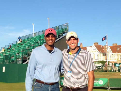 Will and Kim at 2013 British Open at Muirfield in Scotland