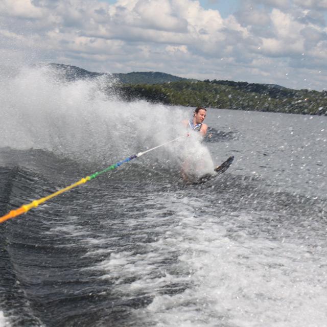 Alex water skiing