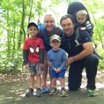 Wysocki Family hiking at Farefield, CT