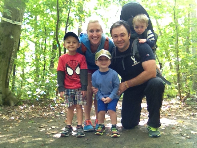 Wysocki Family hiking at Farefield, CT