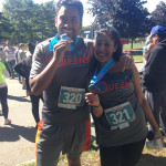 Neil and Puja Dutta knocking out  the Queens Half Marathon
