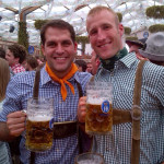 Will and good friend josh  in Munich for Oktoberfest